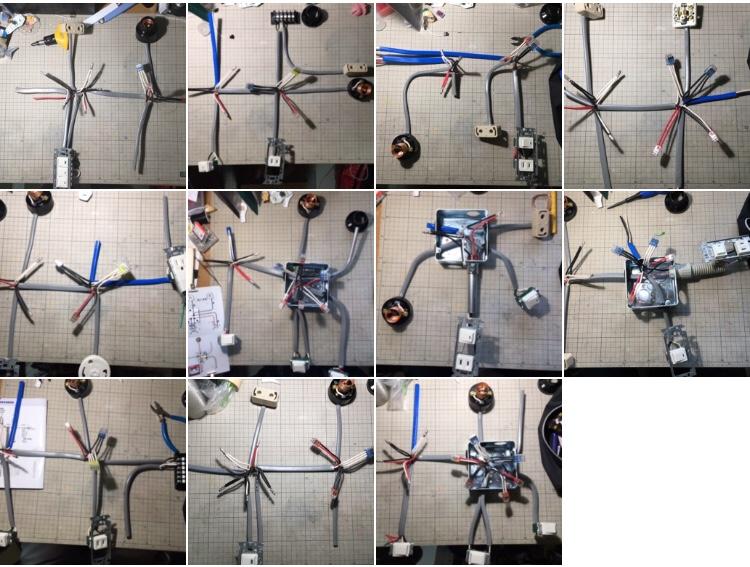 候補問題練習した回路の写真