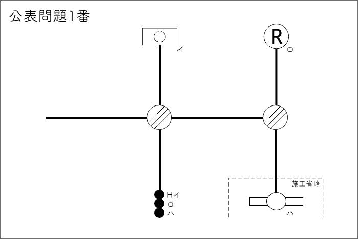 公表問題01 問題(単線図)